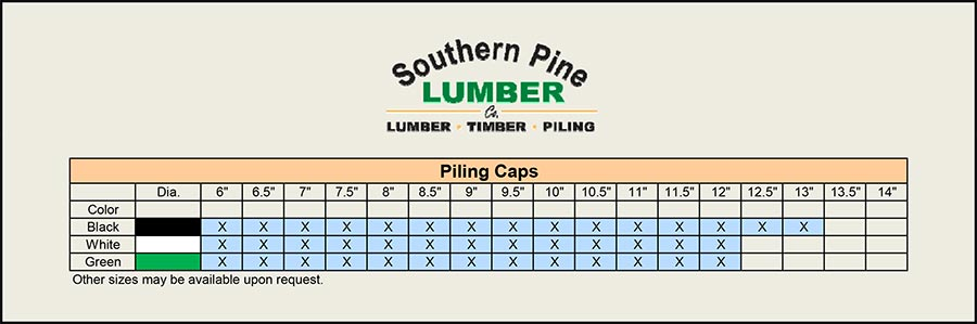 Southern Pine Lumber | Piling Caps