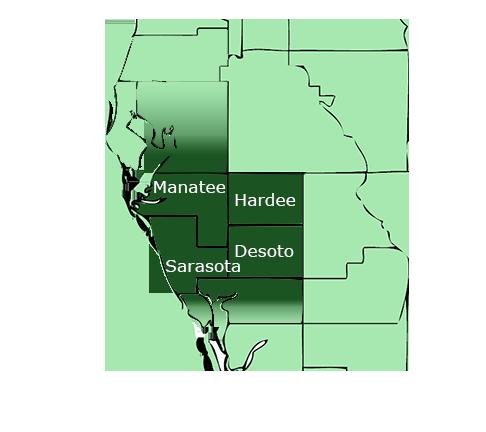 Sarasota Contractor Location | Counties: Hillsborough, Manatee, Hardee, Sarasota, Desota